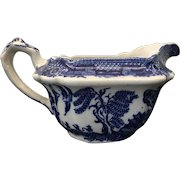 Vintage Bakewell Bros. Blue Willow Pottery Creamer