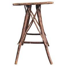 Vintage Adirondack Style Rustic Twig Table