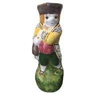 Vintage Portugal Figural Pottery Pitcher / Toby Jug