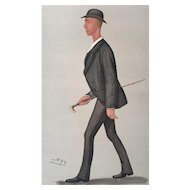 1889 Original Vanity Fair Rowing Print ~ World Champion Sculler - Henry Searle