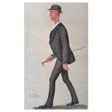 1889 Original Vanity Fair Rowing Print ~ World Champion Sculler - Henry Searle