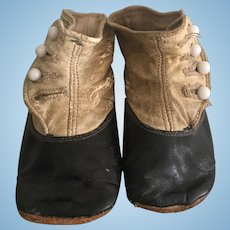 Antique Victorian Baby / Doll High Top Button Shoes