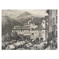 19th Century Birket Foster ORTA ITALY Print