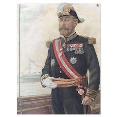 Original 1905 Vanity Fair Military / Navy Print ~ Vice Admiral Caillard