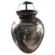 Early 20th Century Etched Mercury Glass Pendant Light