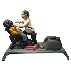 Vintage Book of Knowledge Dentist Reproduction Cast Iron Mechanical Bank