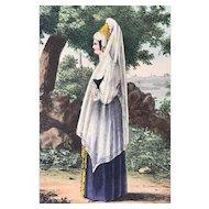 1833 Pinkerton's Russia Costume Print ~ Merchants Wife or Kuptschiha