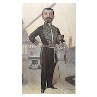 Original 1895 Vanity Fair Literary Print ~ French Naval Officer and Novelist, Pierre Loti