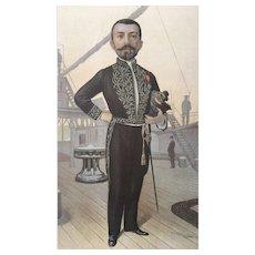 Original 1895 Vanity Fair Literary Print ~ French Naval Officer and Novelist, Pierre Loti