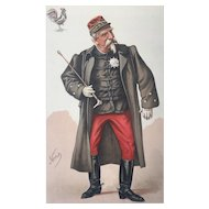 Original 1884 Vanity Fair Print ~  Duc D'Aumale - The Orleans Family