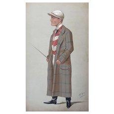 Original 1891 Vanity Fair Horse Racing / JOCKEY Print ~ H. Mornington Cannon