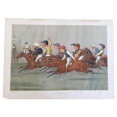 1888 Vanity Fair Double Page Jockey / Horse Racing Print ~ THE WINNING POST