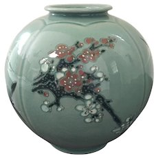 Fine 20th Century Korean CELADON Porcelain Vase ~ Artist Signed