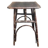 Antique Rustic American Adirondack Twig Stand or Table