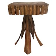 Early 20th Century American Rustic Adirondack Twig Stand / Table