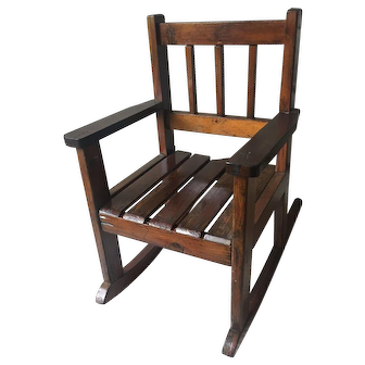 Early 20th Century MISSION  / ARTS and CRAFTS Style Child's Rocking Chair