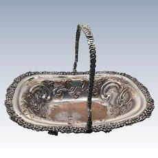 19th Century Old Sheffield Plate Silver Basket Swing Handle