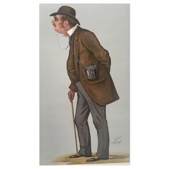 Original 1889 Vanity Fair Turf Devotee Print ~ Official Handicapper to the Jockey Club