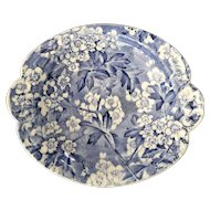 Antique May Blossom Blue and White Transferware Dish by Bourne and Leigh ~ Leighton Pottery