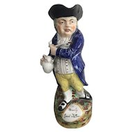 19th Century Staffordshire Toby Jug ~ A Hearty Good Fellow