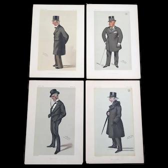 Set of 4 1880's Original Vanity Fair Men of the Day Lithograph Prints