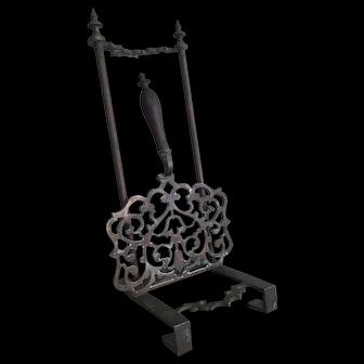 19th Century Brass Sliding Hearth Trivet  / Kettle Stand