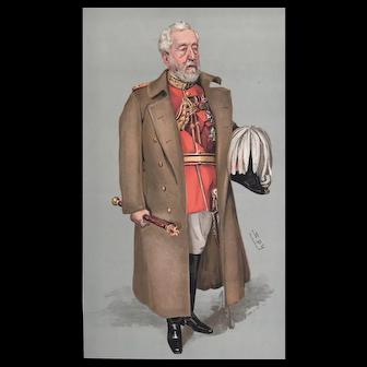 Original  1903 Vanity Fair MILITARY  Print ~ Field Marshall Sir Henry Wylie Norman