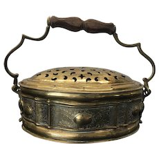 Antique Indian Brass Paan Daan Betel Nut Openwork Box