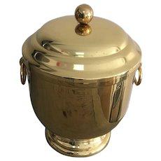 Mid-Century Brass Ice Bucket by Maxwell Phillip