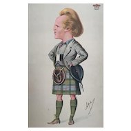 1870 Original Vanity Fair Scotsman in Kilt Print ~ Marquis of Lorne