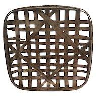 Antique Huntington Tobacco Co. Split Wood Tobacco Basket
