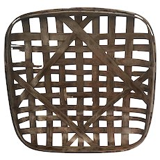 Antique Huntington Tobacco Co. Split Wood Tobacco Basket