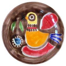 Vintage DeSimone Italian Pottery Bird Plate