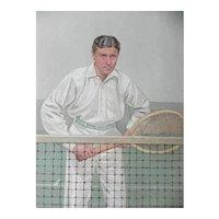 1904 Vanity Fair Tennis Print ~ Hugh Doherty ~ Thrice Champion
