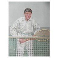 1904 Vanity Fair Tennis Print ~ Hugh Doherty ~ Thrice Champion