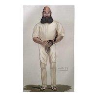 1877 Original Vanity Fair / SPY Cricket Print - W.G. Grace