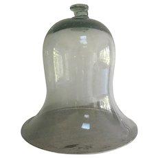 Antique Blown Glass Dome Bell Jar