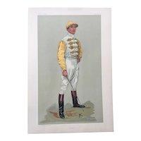1903 Original Vanity Fair Horse Racing Jockey Print - Danny Maher