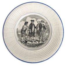 Vintage Digoin & Sarreguemines  Antoine-Augustin PARMENTIER Transferware Plate