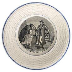 Vintage Digoin & Sarreguemines Johannes GUTENBERG Plate