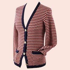 Vintage Celine sport knitted wool cardigan, Celine Paris for Ira Berg