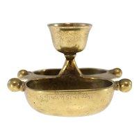 19th Century bronze Tibetan drinking vessel-double cup design (Weight: 638g)