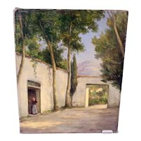 William Henriksen vintage Danish oil painting (Weight: 224g)