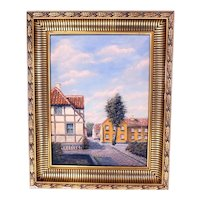 Erik Østerberg vintage Danish oil painting-framed and ready to hang (Weight: 2.585kg)