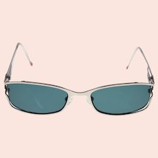 Vintage Marithe + Francois Girbaud ladies metal frame sunglasses with prescription lenses (Weight: 26g)