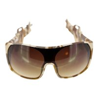 Vintage Linda Farrow Projects Jeremy Scott JS Army 2 military style shield sunglasses-BNIB