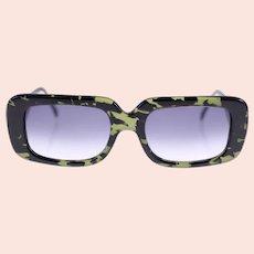 Vintage Infinitif Paris Orchi Dee layered acetate sunglasses (Weight: 38g)