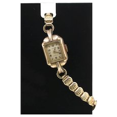Victor 15 jewels ladies rolled gold vintage wristwatch-used-needs servicing (Weight: 16g)