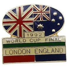 Great Britain v Australia 1992 Rugby League World Cup Final London enamel badge