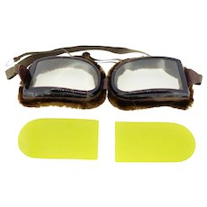 Vintage unisex rectangular shaped goggles-BNIB with spare set of lenses
